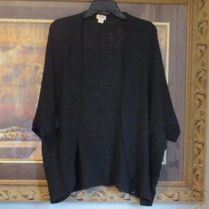 Mossimo Supply Co Black Cardigan w/ open front